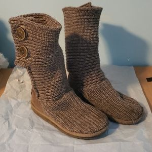 UGG Gray Sweater Boots Women's Size 7.5